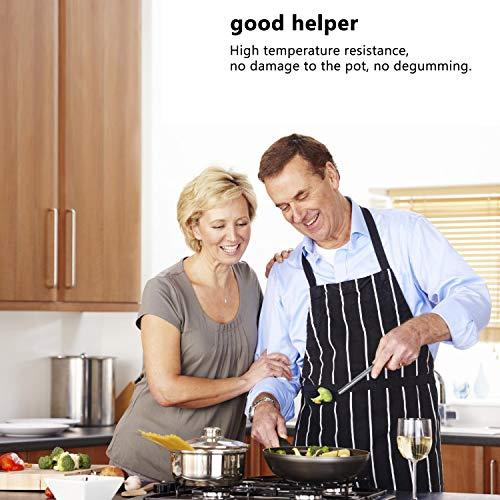 GOAMZ 9 Pezzi Utensili da CucinaSet Utensili Cucina Silicone AntiGraffio Pentole Professionali con Porta Acciaio Inox Antiaderente Resistente