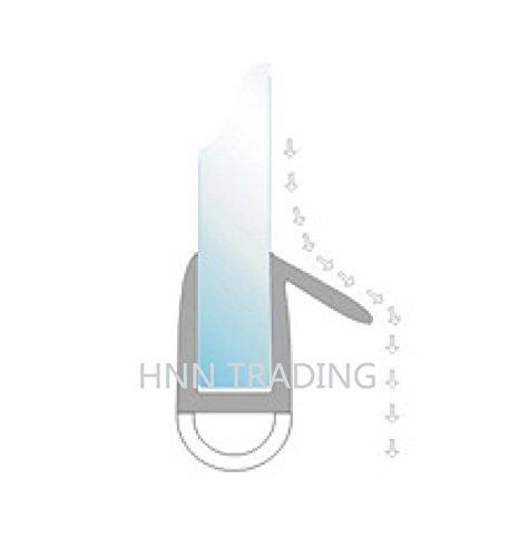 Hnnhome Guarnizione per schermo protettivo docciavasca 870mm di lunghezza per vetro da 46mm fino a 8mm di distanza