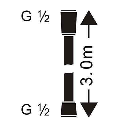 HOMELODY Tubo Doccia 3 Metri Connettori G12 Pollici Tubo Doccia Flessibile in Acciaio Inox Cromato