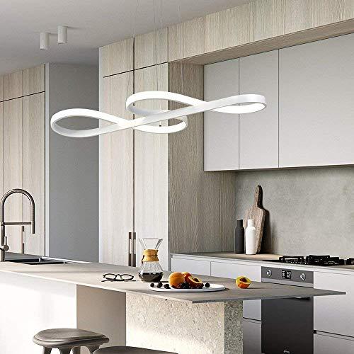 Lampada a sospensione Simboli musicali Design LED Lampadario BiancoLampada a sospensione in acrilico e alluminio sala da pranzo soggiorno Cucina classe energetica A  Colore  White light