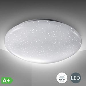 Lampada da soffitto LED decoro a cielo stellato plafoniera luce bianca 4000K 1200lm 29cm LED integrati 12W lampadario per camera da letto o soggiorno a risparmio energetico plastica IP20