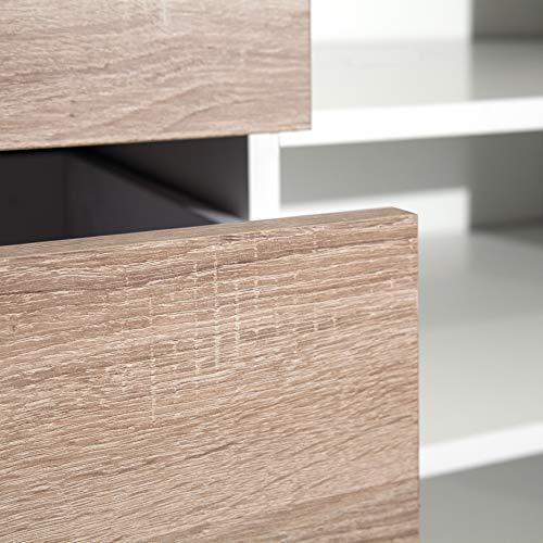 Marchio Amazon Movian Arga  Scarpiera 895 x 40 x 732 cm L x P x A colore bianco e quercia