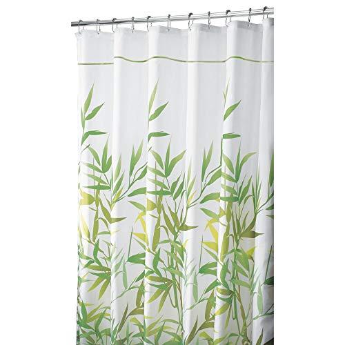 mDesign tenda doccia antimuffa  180 x 200 cm  tenda colore verde  tenda per doccia e per vasca  montaggio facile