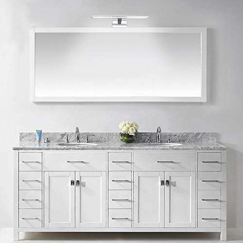 Novostella 10W Luce Specchio Bagno 800LM LED Alluminio Illuminazione Bagno Bianco Freddo 6000K Impermeabile IP44 400x125x 95 mm