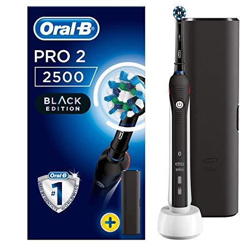 OralB Pro 22500 Crossaction Spazzolino Elettrico Ricaricabile 1 Manico Nero 2 Modalit tra cui Protezione Gengive 1 Testina Custodia da Viaggio