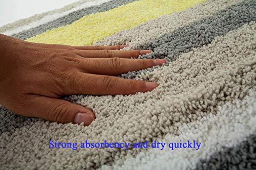 Pauwer Tappetino da Bagno in Microfibra Tappeto per Bagno Antiscivolo Tappeti per il Pavimento del Bagno Moquette Lavabile in Lavatrice