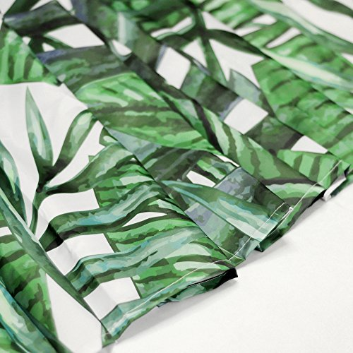 Piante tropicali foglie di banano bagno tende impermeabile e antimuffa con 12 ganci per tenda da doccia