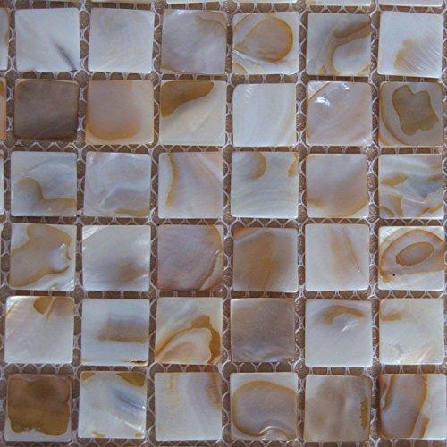 Piastrelle a mosaico in madreperla effetto letto di fiume Nature perla a mosaico per piastrelle da bagno piscine spa Backsplashes WallsOne Sheet