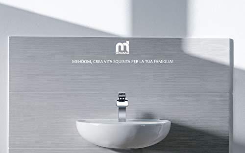 Rubinetto Bagno Cascata MEHOOM Miscelatore Lavabo Bagno Rubinetto lavabo Valvola in Ceramica Rubinetto Bidet per Acqua Calda e Fredda Disponibile Finitura Cromata Stile Moderno