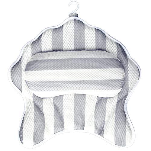 Samincom  Cuscino per vasca da bagno lussuoso cuscino per il collo cuscino per vasca da bagno supporto ergonomico con forti ventose