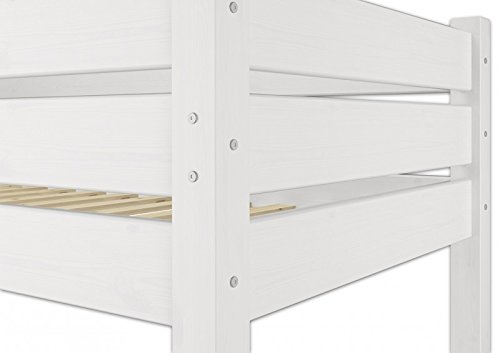 Solido letto a castello in pino Eco anche per Adulti 90x200 Bianco 601609 W