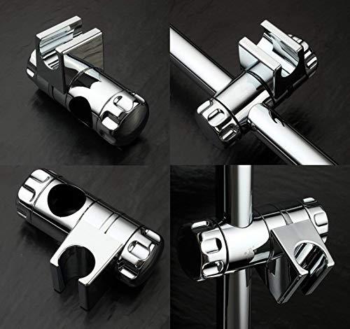 Staffa Supporto Doccia Rixow Cromati Doccia Supporto Doccetta Scorrevole per Asta Doccia 25mm