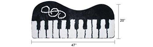 USTIDE Nero Pianoforte Tappeto Moda Nero e Bianco Tappeto Bambini Ragazzi Camera da Letto tappetini Casa Decorazione Lavabile Pavimento Soggiorno Floor Runner Rugs 2x 3