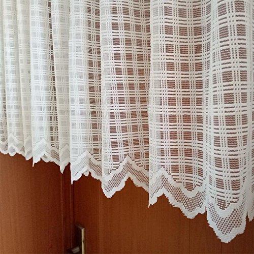 ZHH Tenda Mantovana finestra Sala da pranzo quadrato Lattice bianco Cafe Tenda 150 x 45 cm