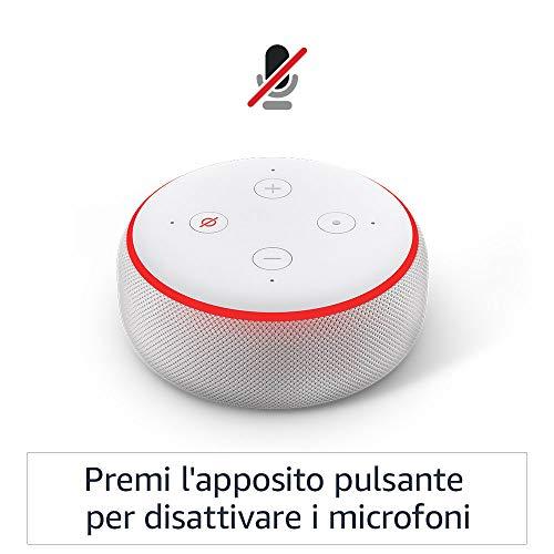 Echo Dot 3 generazione  Altoparlante intelligente con integrazione Alexa  Tessuto antracite