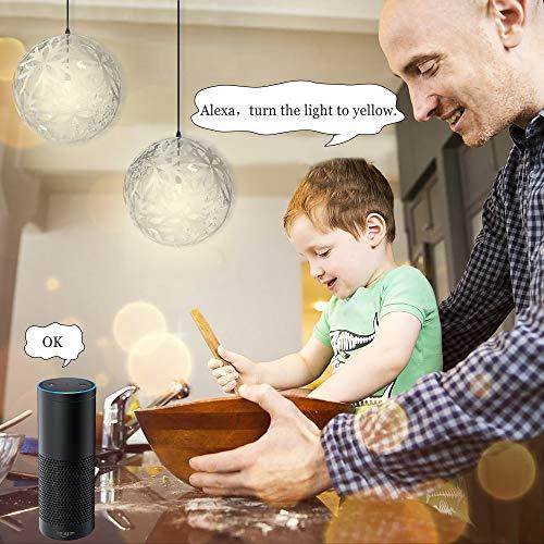 WiFi 2 PCS Smart Light Switch 2 Gang Jinvoo US Panel Switch Smart Phone Remote Vetro Temperato Timer Nessun Hub Richiesto Compatibile con AlexaGoogle Home Alimentato da Tuya Bianco2 gang