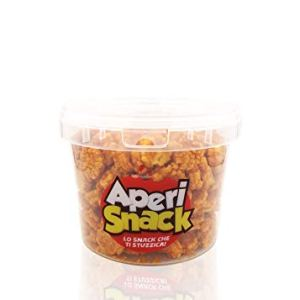 Aperisnack  AP0400505  Rice Cracker Piccante Secchiello Small da 400gr Snack Salati e Stuzzichini Ideali per lAperitivo e Le tue Feste