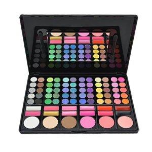 DISINO  Kit per trucco fard e palette di ombretti prodotto cosmetico colori luminosi e dinamici professionale 78colori modello 3