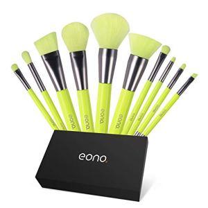 Eono Essentials Pennelli Make Up Set 10Pcs Pennello per trucco professionale Pennello per ombretto trucco professionale