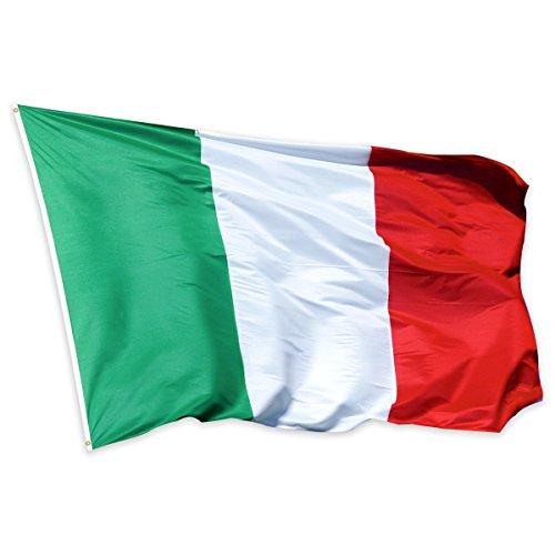 Hemore Bandiera del Italia 5  3ft  150  90cm Bandiera in Poliestere Ideale per Esterni e Interni Grande Bandiera Italia