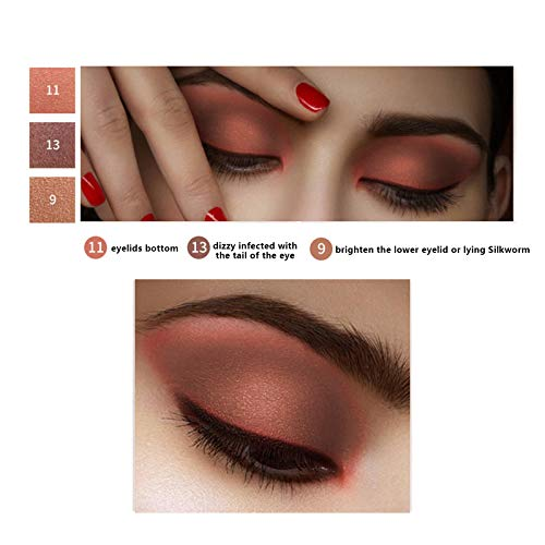 Onlyoily Glitter Powder trucco opaco lucido a prova di sbavatura impermeabile Makeup Palette Professional  Lunga Durata Palette di Ombretti Shimmer Face Makeup Kit 16 Colori