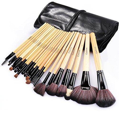 Pennelli Make UpCadrim 24 pezzi Set di pennelli professionali per trucco trucchipennelli trucco con borsa