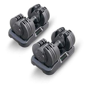 Powerball Set di Manubri Regolabili 20KG Max con Tecnologia Brevettata HandleTwist TM  16 Diverse Possibili Combinazioni di Pesi per Manubri
