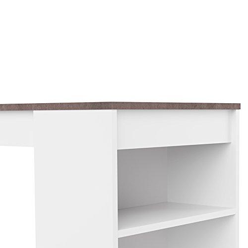 Symbiosis Ramsay  Tavolo Bar Bianco Mat Bton 115 x 50 x 1027 cm