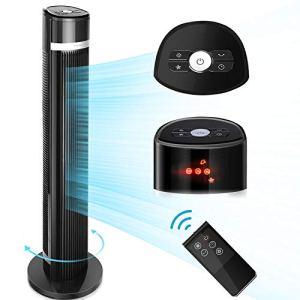 Aigostar Ross 33QNS  Ventilatore a Torre digitale con telecomando 3 velocit 3 modalit timer 7 ore oscillazione 60  103 cm display a LED cavo lungo 18 m colore nero Design esclusivo
