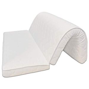 Baldiflex Materasso per Divano Letto Brio Pronto Letto con Piega su Seduta Ortopedico ergonomico Anallergico 160x190x10cm