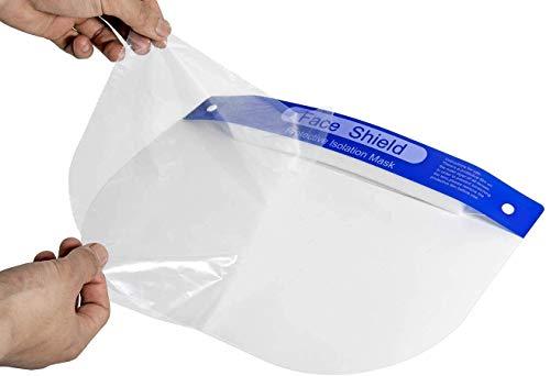 10 pezzi visiera protezione completa per uso quotidiano Paraschizzi in Plastica TrasparenteCoperchio Antinebbia antisalivaantivento Coperchio Antinebbia Proteggi Gli Occhi e Il Viso