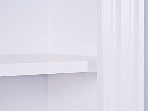 13Casa  Anna 6 Libreria Legno massello sbiancato 87 x 180 x 30 cm