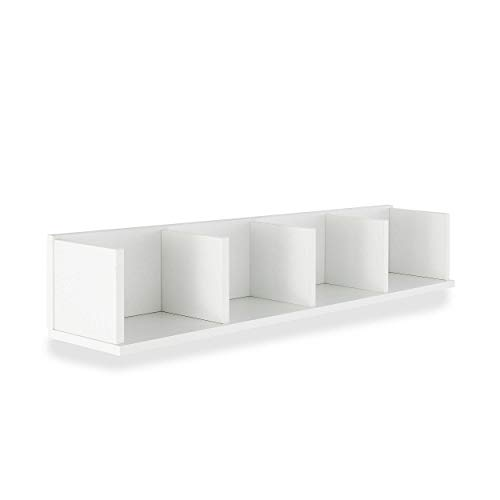 13Casa  Hand A3  Mensola Dim 92x17x165 h cm Col Bianco Mat Truciolare legno
