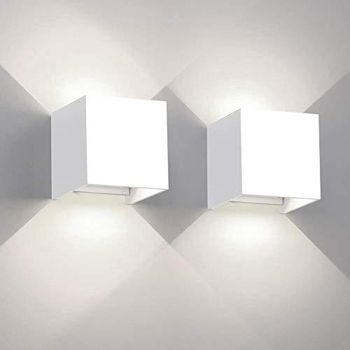 2 lampade da parete a LED da 12 W in alluminio impermeabili da parete luce notturna per soggiorno camera da letto corridoio illuminazione decorativa Contemporaneo Wihte