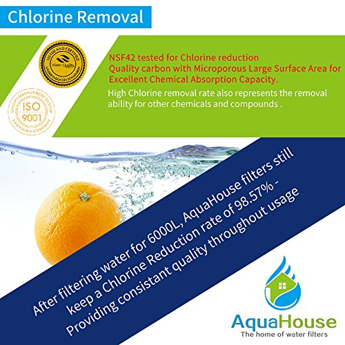 2x AquaHouse UIFS Compatibile Filtro Frigorifero acqua per Samsung DA2910105J HAFEXEXP WSF100 AquaPure Plus filtro esterno solo