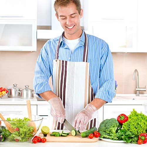 300 Pezzi Guanti Preparazione Alimenti Monouso Guanti di Plastica Trasparenti Usa e Getta Guanti Manipolazione Alimenti per Fare Cucinare in Cucina Pulire e Forniture Lavastoviglie Taglia Unica