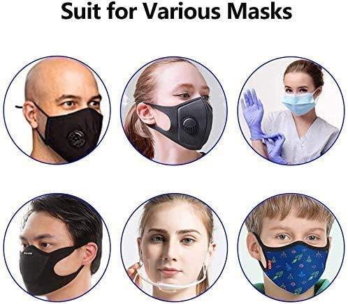 4 elastici per maschera antirestringimento per maschere accessori per orecchie con fibbia per alleviare il dolore in quattro colori