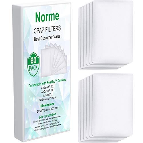 60 Pezzi Filtro Monouso Filtri Aria Monouso 54 x 35 mm per La Maggior Parte dei Filtri di Dimensioni Uguali