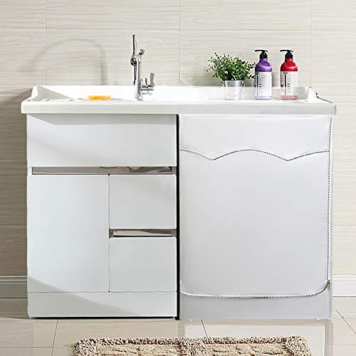 AKEfit Copertura Lavatrice per Le lavatrici con Aperture Anteriori Impermeabile Argento Taglia Larga 606485cm
