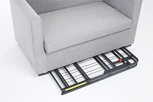 AmazonBasics  Base pieghevole per materasso si monta senza attrezzi con spazio di conservazione sottostante 90 x 190