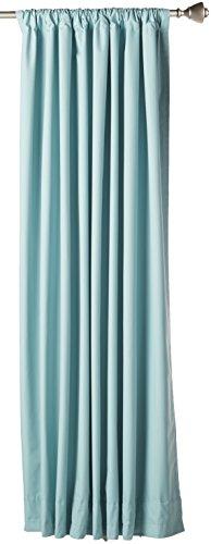 AmazonBasics  Tenda Termica Isolante Oscurante con 2 fermatenda 2 pannelli 168 x 137 cm  Verde Acqua