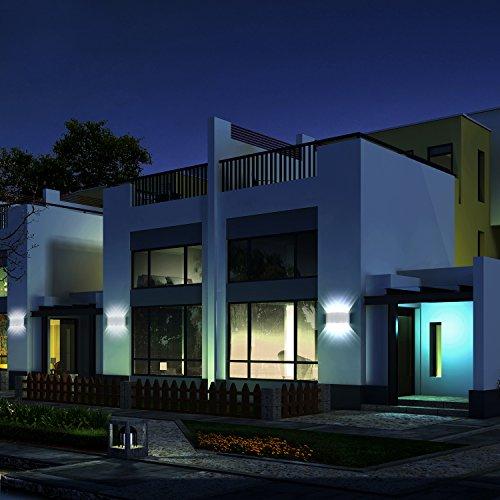 Applique da parete Interno Moderno 8W Bianco Lampade da parete LED in Alluminio per interni esterno Perfetto per Camera da letto Soggiorno Corridoio Scale Percorso Bianco Freddo