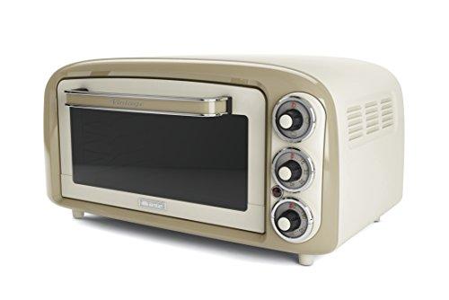 Ariete 979 Vintage  Forno Elettrico di Design 18 Litri Idoneo per pizza da 30 cm 1380W 3 posizioni di cottura Timer 60 Acciaio Inossidabile Beige Pastello