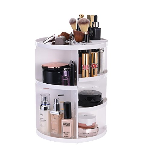 ATPWONZ Organizer per Cosmetici  Trucco Organizzatore Vassoio Girevole a 360 Gradi estetica Multifunzionale di immagazzinaggio Scatola di 8 Strati di Trucco e Accessori Nero
