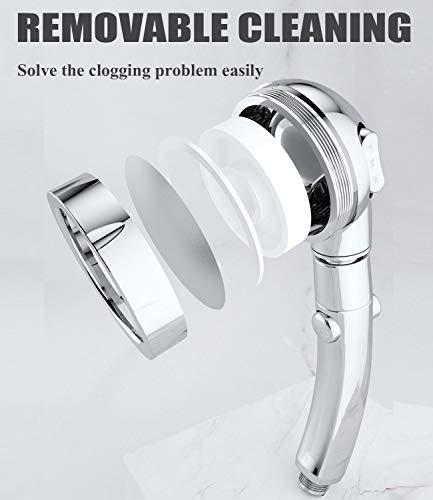 Babacom Doccetta soffione doccia 3 tipi di getto Alta pressione palmare ad alta pressione con pulsante di arresto Soffione doccia a soffione doccia per bagno e spa