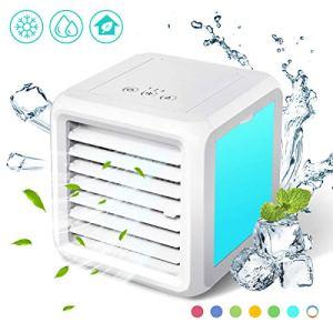Baban  Mini raffreddatore daria 3 in 1 aria condizionata frigorifero ventilatore da tavolo silenzioso 8 modalit di conversione della luce facile da trasportare molto adatto