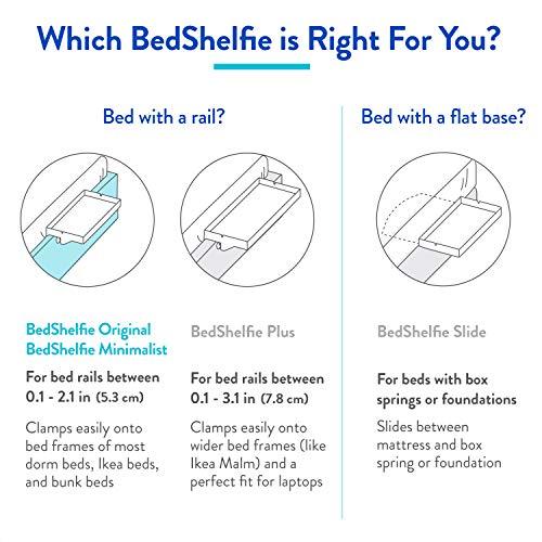 BedShelfie La mensola del Comodino Originale  3 Colori  2 Taglie  Come VISUALIZZATO Insider Aziendale Formato Normale bamb in Nero