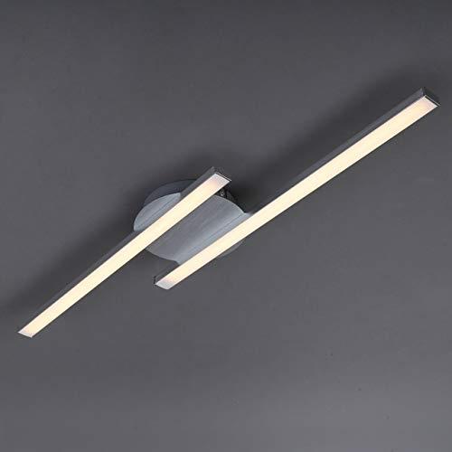 Briloner Leuchten 3257029 Plafoniera LED con Due Barre Luminose 2x6W 2x480Lm Luce calda 3000K Lampada da soffitto per Camera da Letto Soggiorno Metallo color alluminio 6 W