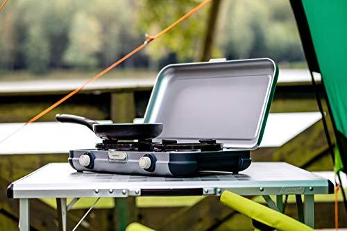 Campingaz Fornello per Campeggio Camping Kitchen 2 Cucina da CampeggioFornello a Gas Due Fuochi Portabile 4000 Watt