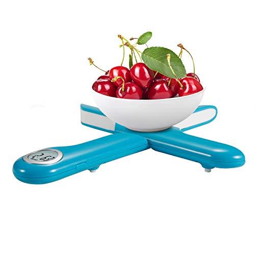 Camry bilancia Digitale pieghevole da cucina bilancia elettronica multifunzionale Cucina Mini bilancia pesare il cibo LCD Peso cucina fino a 5 kg di peso AutoOff e TaraBlu